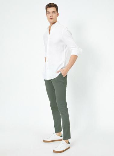 Koton Cep Detaylı Pantolon Yeşil